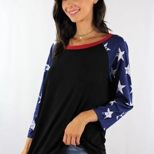 💥🔥 JUST IN🔥💥 3/4 sleeve American 🌟 Shirt